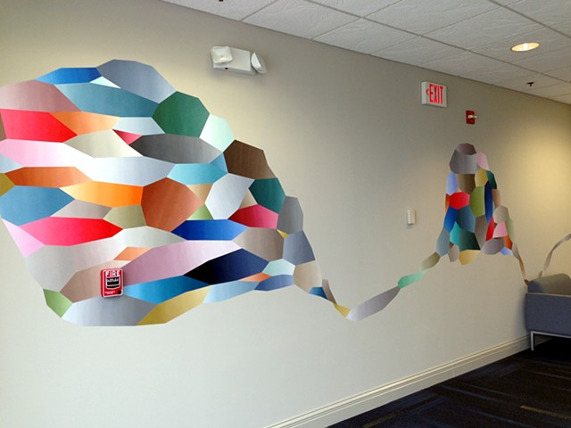 "Mural For Shurtape Technologies Based From ""Arrival At Safe Environs"", Hickory, NC, 2013"