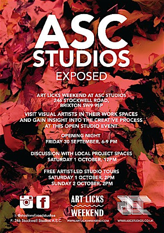 ASC OPEN STUDIOS, Autumn 2016