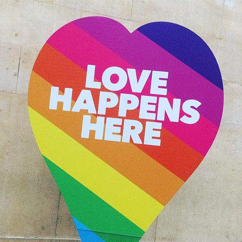 LOVE HAPPENS HERE, Pride Exhibition, 2017