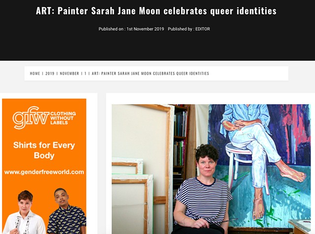 Art: Painter Sarah Jane Moon Celebrates Queer Identities, Diva Magazine, 1st November 2019