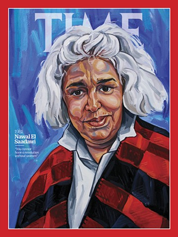 Nawal El Saadawi Portrait, 100 Women Of The Year, TIME Magazine, 6th March 2020