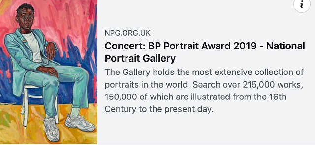 CONCERT: BP PORTRAIT AWARD 2019, The National Portrait Gallery, London