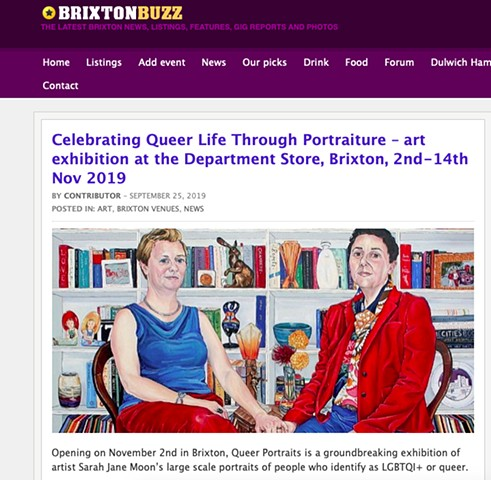 Celebrating Queer Life Through Portraiture, Brixton Buzz Blog, 25th September 2019