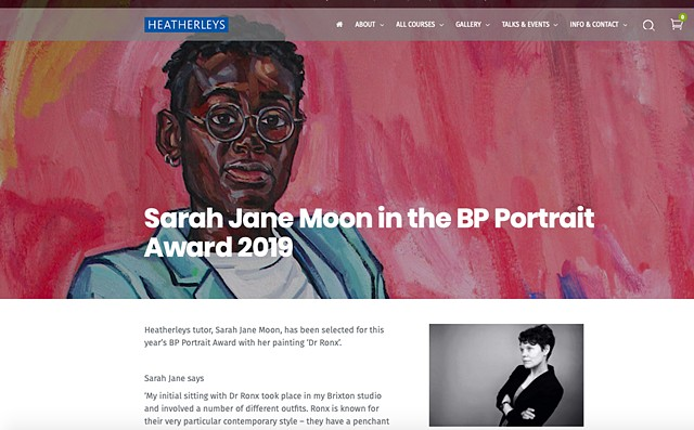 Sarah Jane Moon In The BP Portrait Award 2019, Heatherleys Blog, 14th May 2019