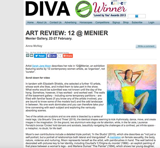 Art Review 12@Menier - Anna McNay, February 25th 2016