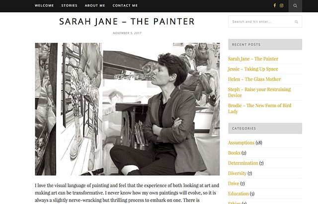 Sarah Jane - Tha Painter, Charlotte Adams, Nov 2017