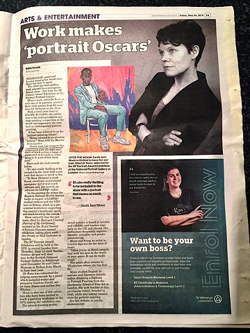 Work Makes 'Portrait Oscars', Kathy Forsyth, The Beacon, 24th May 2019