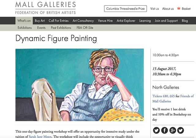 DYNAMIC FIGURE PAINTING WORKSHOP, Mall Galleries, August 2017