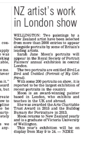 NZ Artist's Work In London Show, Otago Daily Times, 26th April 2019
