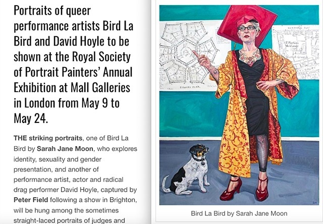 Queer Artists' Portraits At London Exhibition in May, Graham Robson, GScene, 7th May 2019