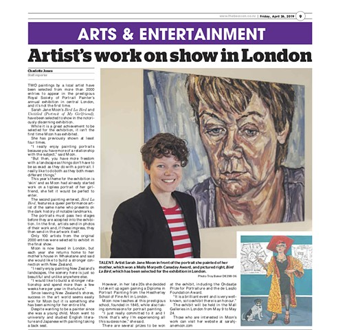 Artist's Work To Appear In London Exhibition, Charlotte Jones, The Beacon, 26th April 2019