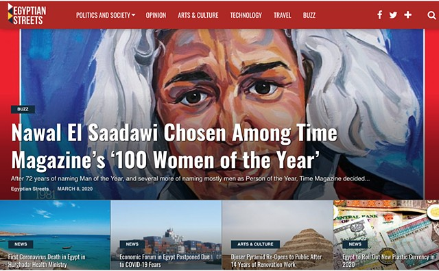 Nawal El Saadawi Chosen Among TIME Magazine '100 Women Of The Year', Egyptian Streets, 8th March 2020