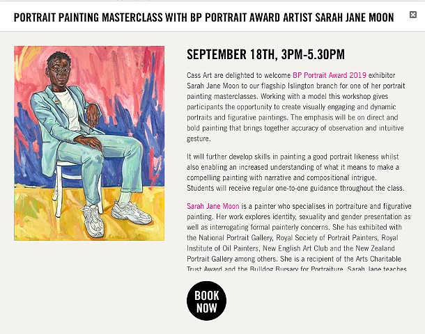 PORTRAIT PAINTING MASTERCLASS, Cass Art Islington, London