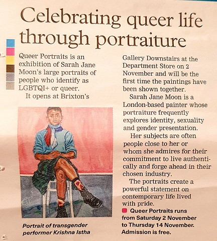 Celebrating Queer Life Through Portraiture, Brixton Bugle, 20th October 2019