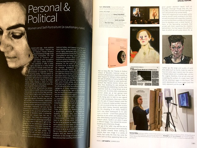 Personal & Political: Women And Self Portraiture (A Cautionary Tale), Ian McKay, Art North Magazine, Issue 2 Summer 2019
