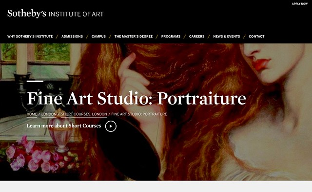 FINE ART STUDIO: PORTRAITURE COURSE, Sotheby's Institute of Art, London