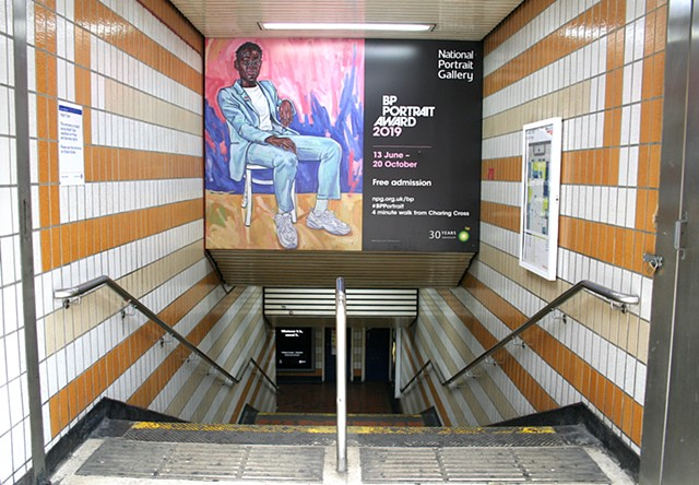 Dr Ronx / BP Portrait Award Poster, Charing Cross Tube Station (Exit 4), May 2019