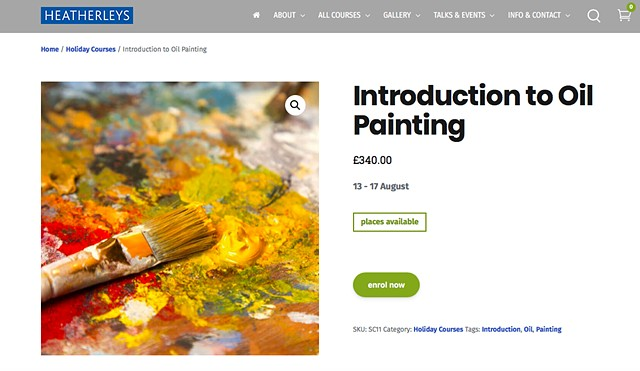 INTRODUCTION TO OIL PAINTING, Heatherleys London