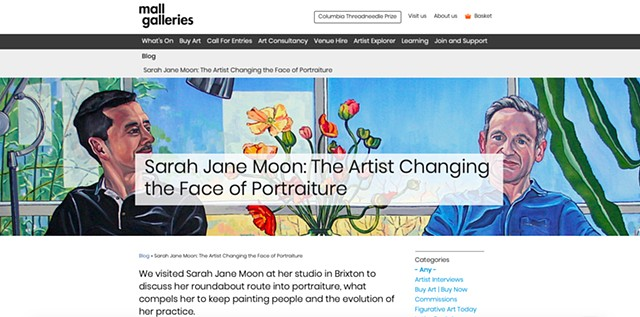 Sarah Jane Moon: The Artist Changing The Face Of Portraiture, Roisin McVeigh, Mall Galleries Blog, 6th July 2019