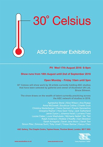 30 CELSIUS, ASC Summer Exhibition, 2016