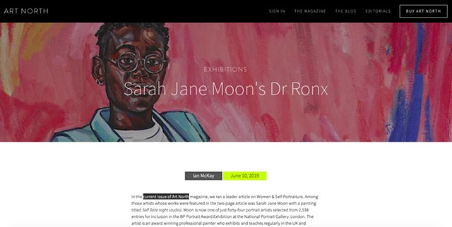 Sarah Jane Moon's Dr Ronx, Ian McKay, Art North Magazine, 10th June 2019