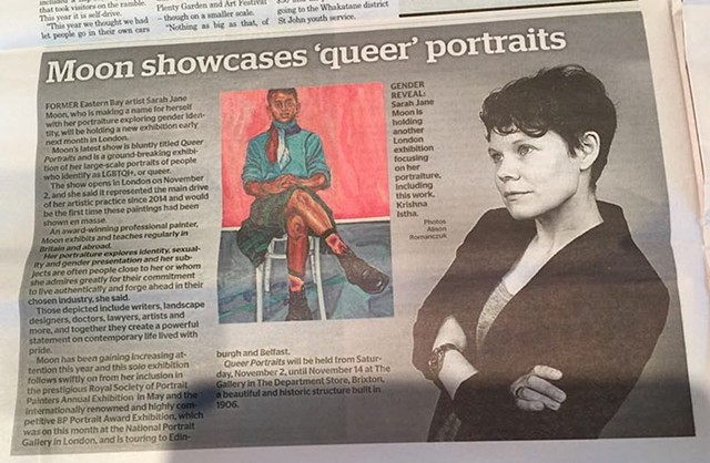 Moon showcases 'queer' portraits, Whakatane Beacon, 23rd October 2019