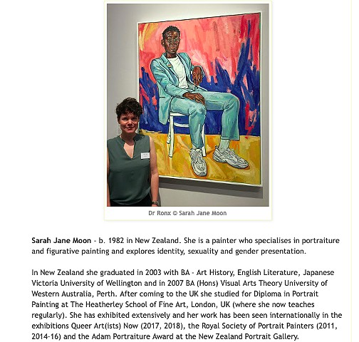 BP Portrait Award 2019: Artists With Their Paintings, Katherine Tyrrell, Making A Mark, 16th June 2019