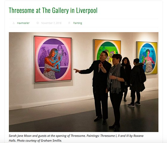 Threesome At The Gallery In Liverpool, Birthe Havmoeller, Feminine Moments , Nov 2018