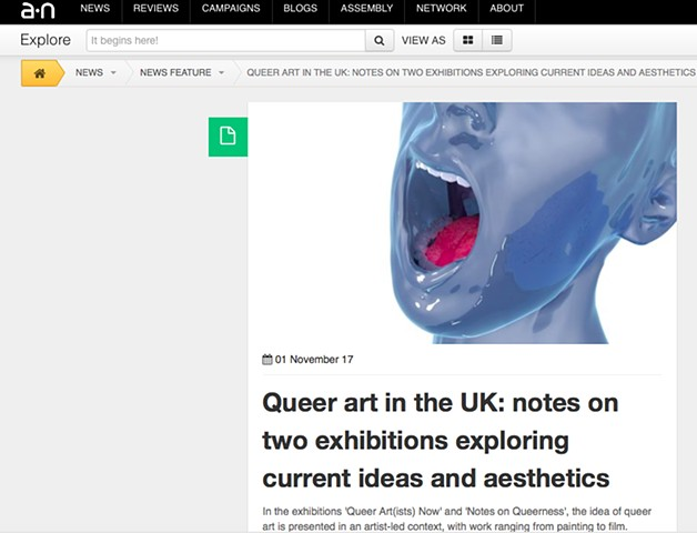 Queer Art In The UK, Alistair Gentry, Nov 2017
