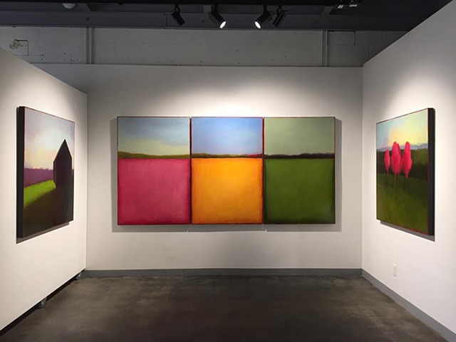 On display; Triptych - Color Field 197, Color Field 198, Color Field 199
