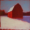 Wintery Red Barn