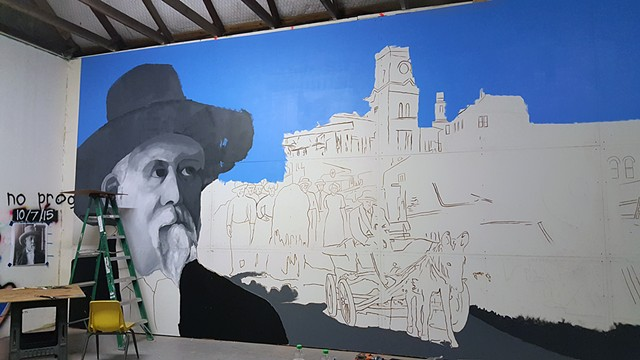 Under-painting of Joseph Cotulla