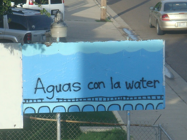 Aguas con la water