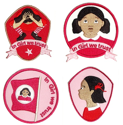 Set of all 4 Girl badges