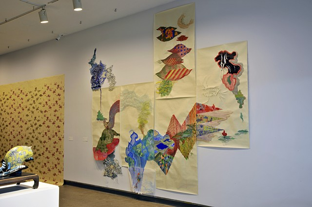 Installation view, Surface Handling: Diyan Achjadi and Bredan Tang