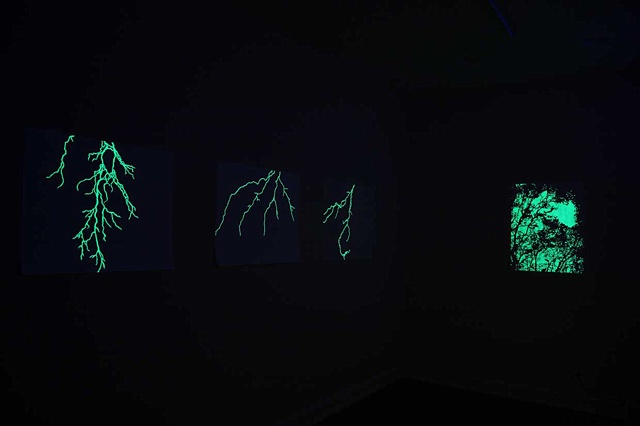 thunderstorm drawings glow in the dark