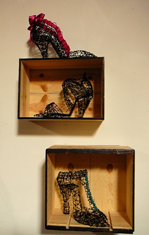 shoes on display at my studio