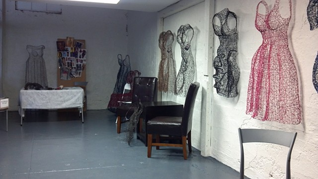 work on display in my studio