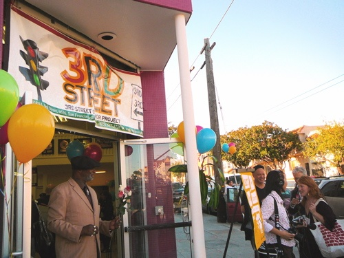 art in storefronts unveiling event