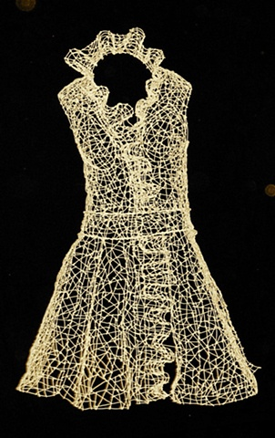 gold wire dress