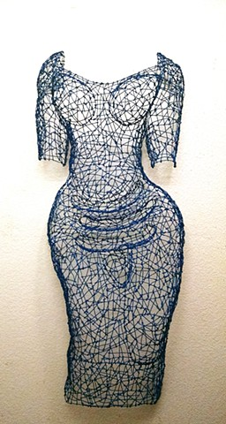 Dress, wire, sculpture, curves, Kristine Mays, breathing life into wire