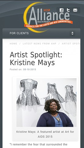 UCSF Health Alliance - Artist Spotlight: Kristine Mays