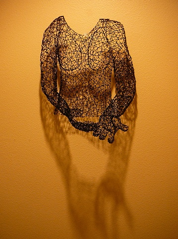female, wire sculpture, Kristine Mays, art, figurative