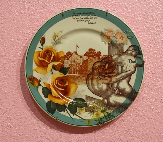 alamo plate, dining room installation, detail