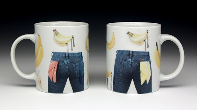 Spanker and Piss Freak Mugs, from the Handkerchief Series
