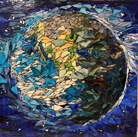 Companion Mosaic to the Solar System Tryptic, Permanent home is a Healthcare facility in Palo Alto, CA