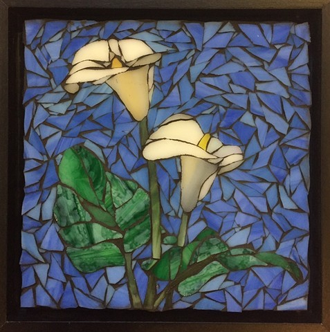 Stained Glass Mosaic, Floral, Calla Lily
