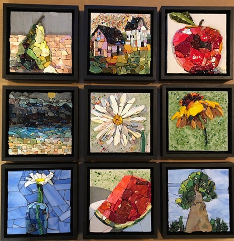 This is an example of the mosaics availalble from my recent exhibit at the Rochester Art Center