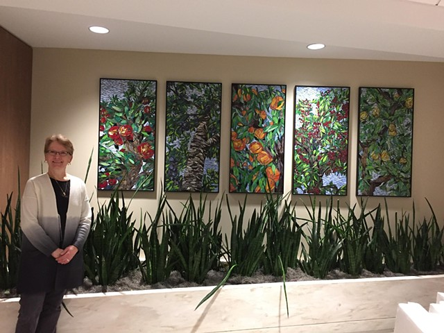 Michigan Orchards Perspectives (Commission at St. Joe's Mercy Hospital, Pontiac, Michigan)