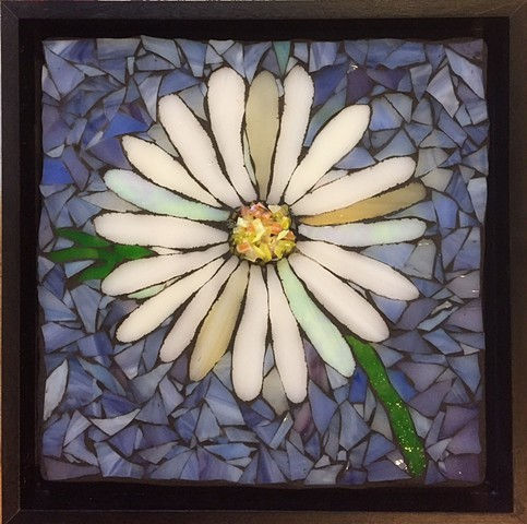 Stained Glass Mosaic, Floral, Daisy